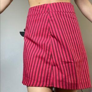 Striped red mini skirt NBW
